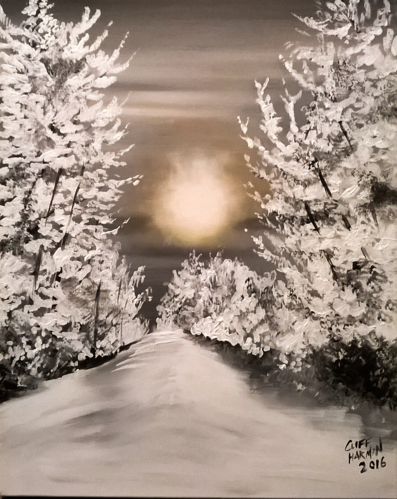 A1 Winterscape - Sip and Paint Parties in Bartlett, IL