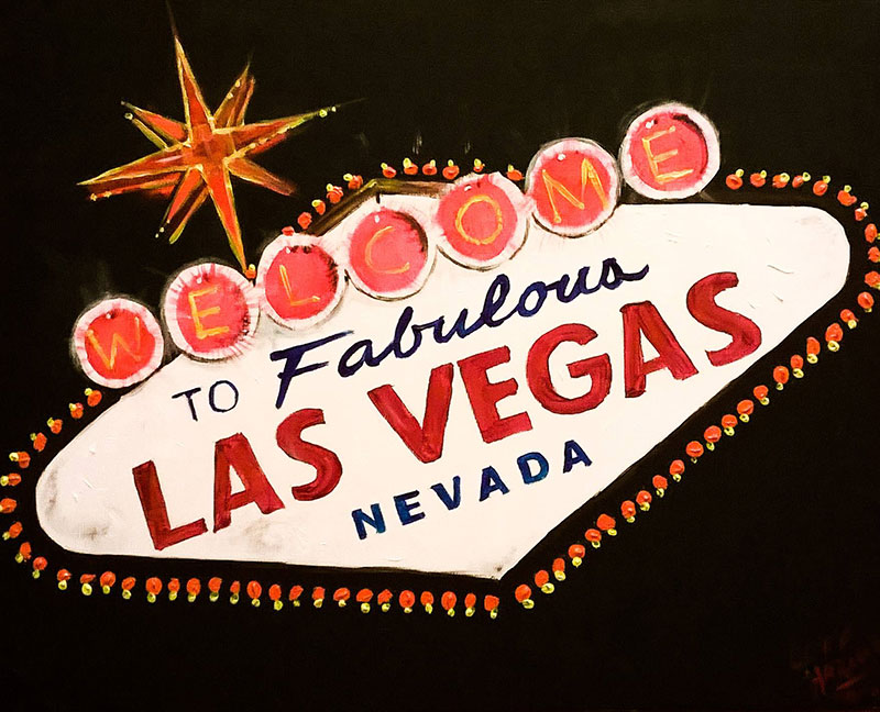 A13 Viva Las Vegas - Sip and Paint Parties in Bartlett, IL
