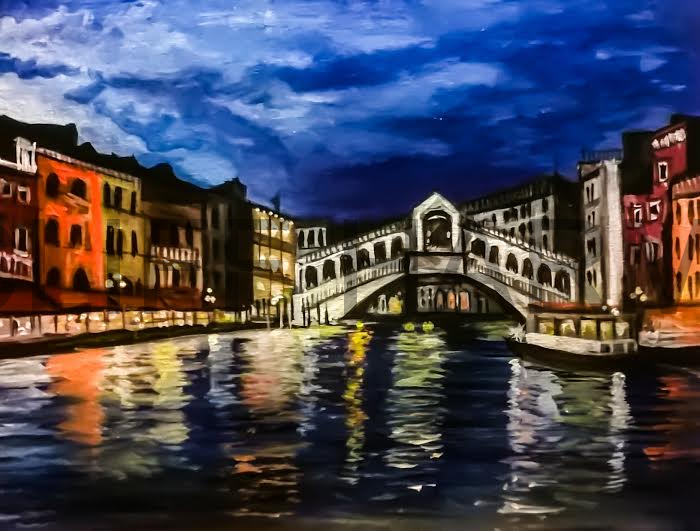 A23 Venice Bridge - Sip and Paint Parties in Bartlett, IL