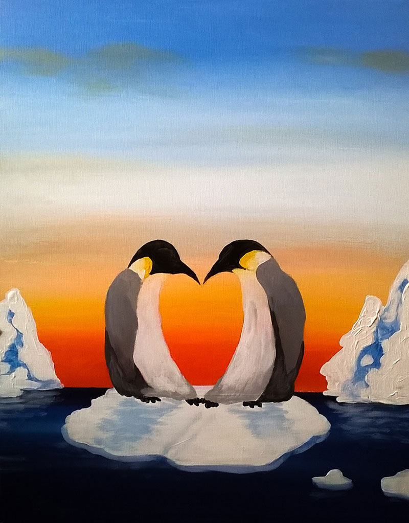 Penguin Love - Sip and Paint Parties in Bartlett, IL