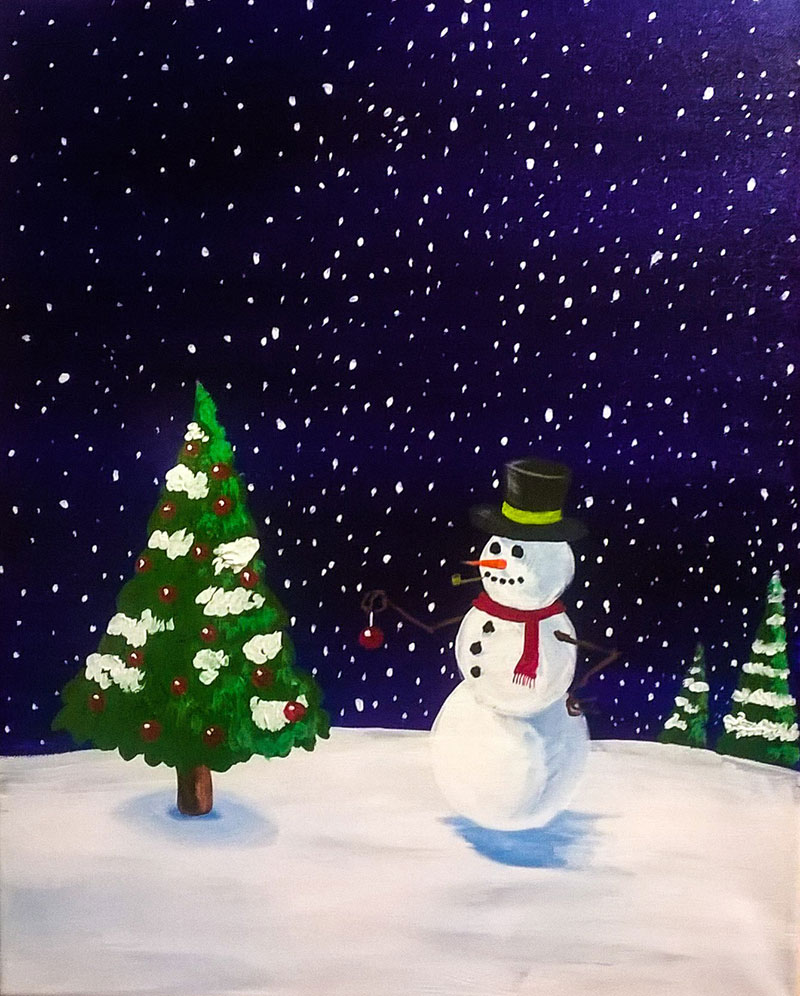Snowman - Sip and Paint Parties in Bartlett, IL