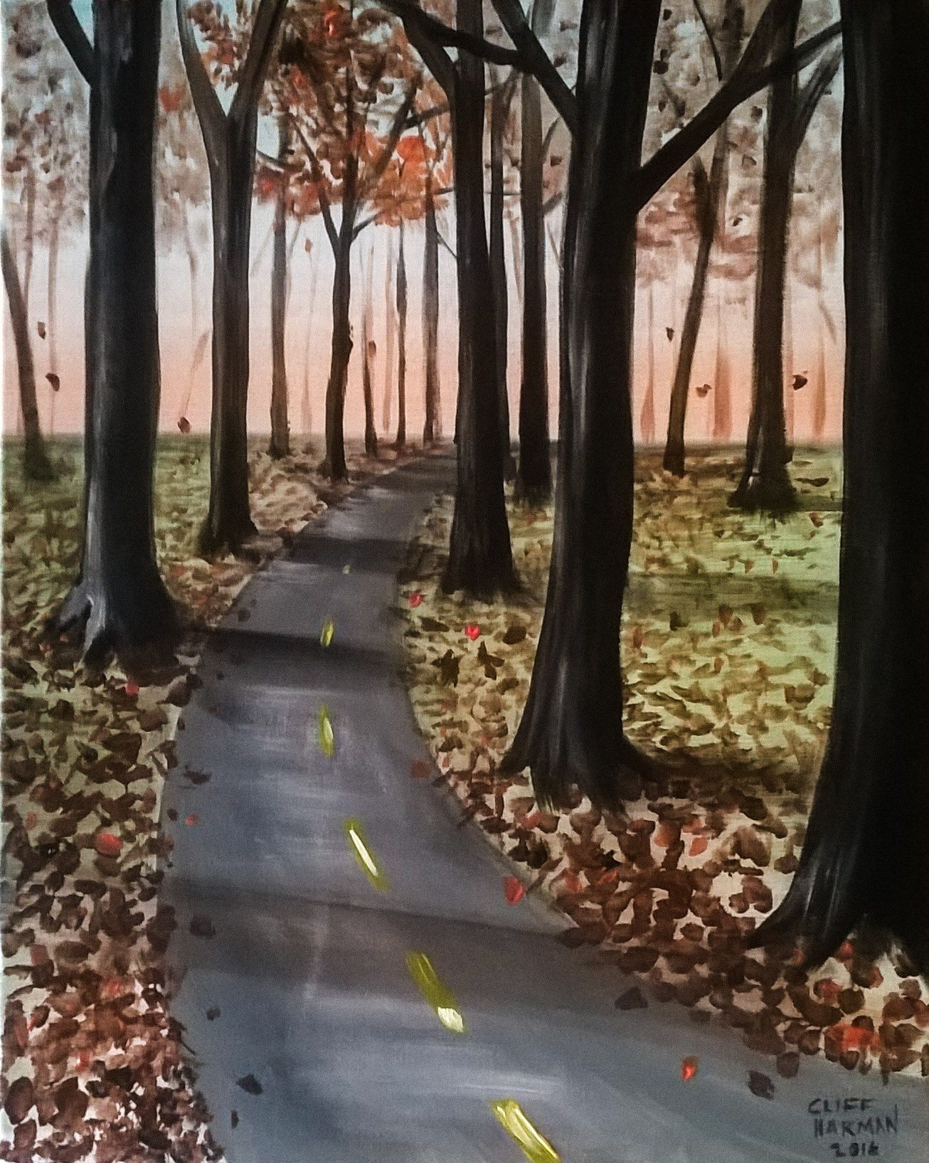 A42 Lonesome Autumn Road - Sip and Paint Parties in Bartlett, IL