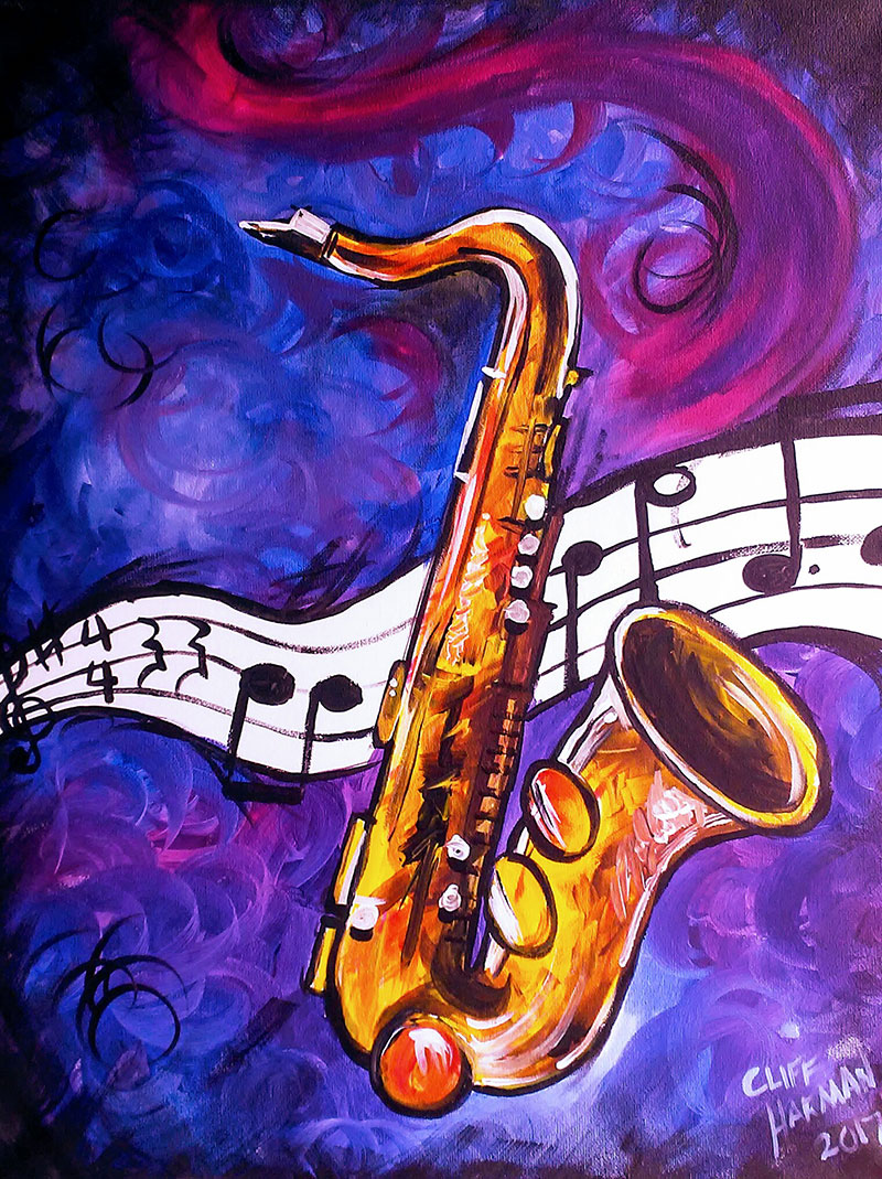 A48 Smooth Jazz - Sip and Paint Parties in Bartlett, IL
