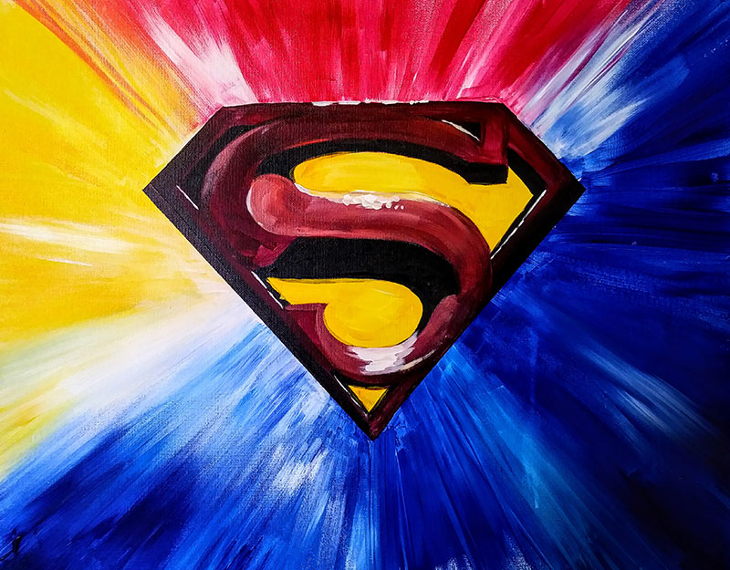 A89 Superman - Sip and Paint Parties in Bartlett, IL