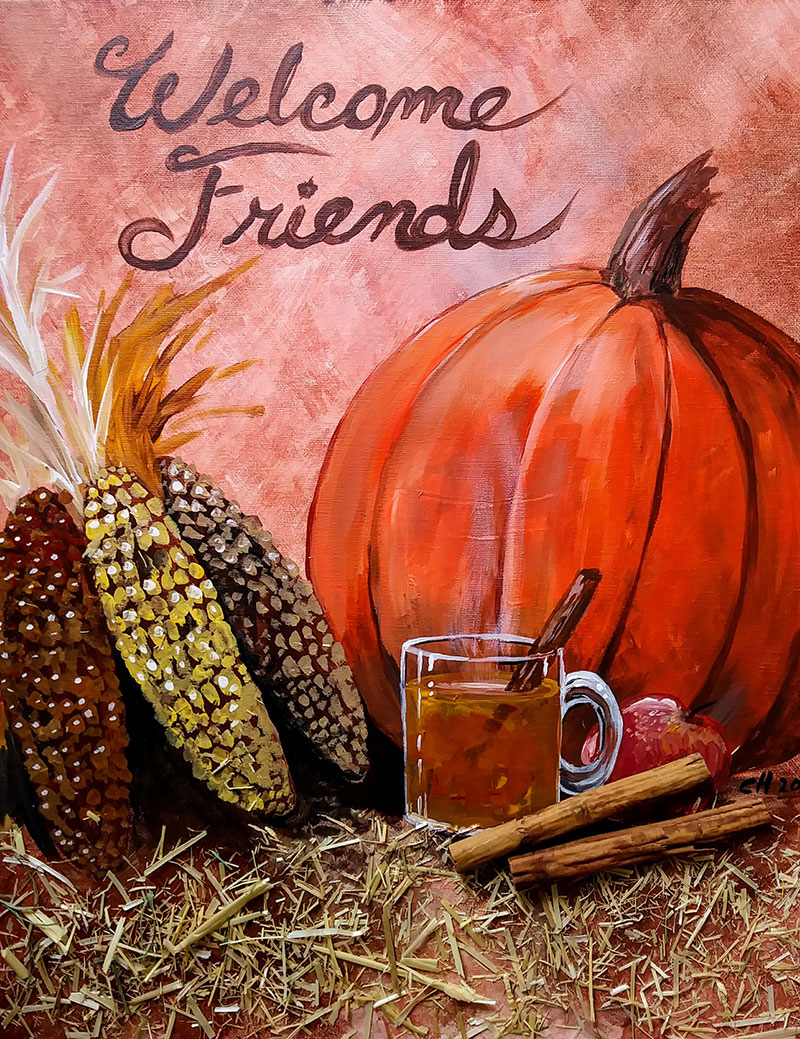 Pumpkin Spice - Sip and Paint Parties in Bartlett, IL