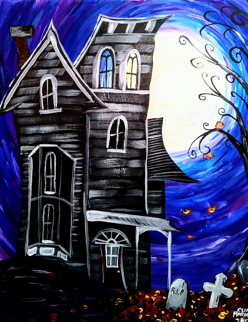 B1 Haunted House - Sip and Paint Parties in Bartlett, IL