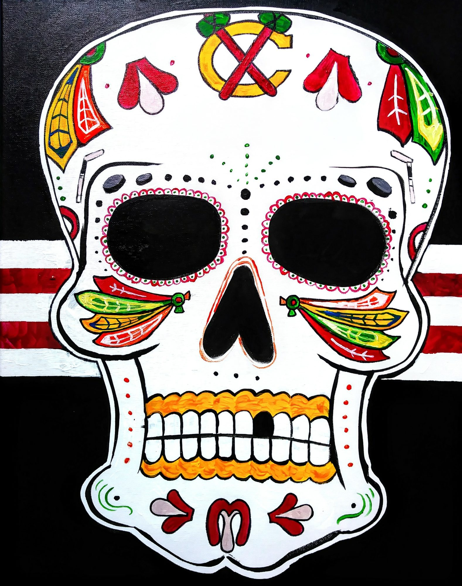 B24 Day of the Dead, Chicago Edition - Sip and Paint Parties in Bartlett, IL