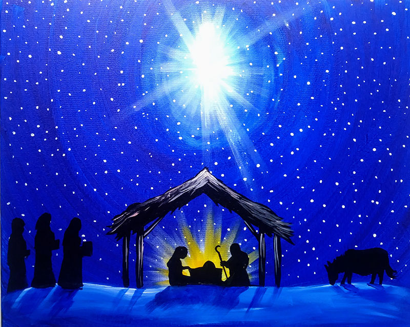 Nativity Scene - Sip and Paint Parties in Bartlett, IL