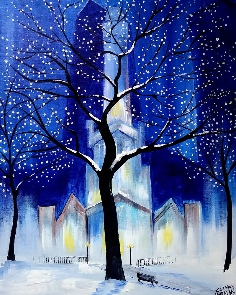 Merry Christmas Chicago - Sip and Paint Parties in Bartlett, IL