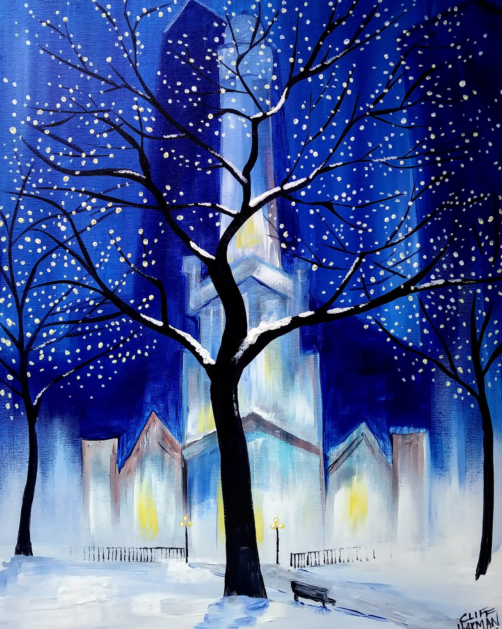 B39 Merry Christmas Chicago - Sip and Paint Parties in Bartlett, IL