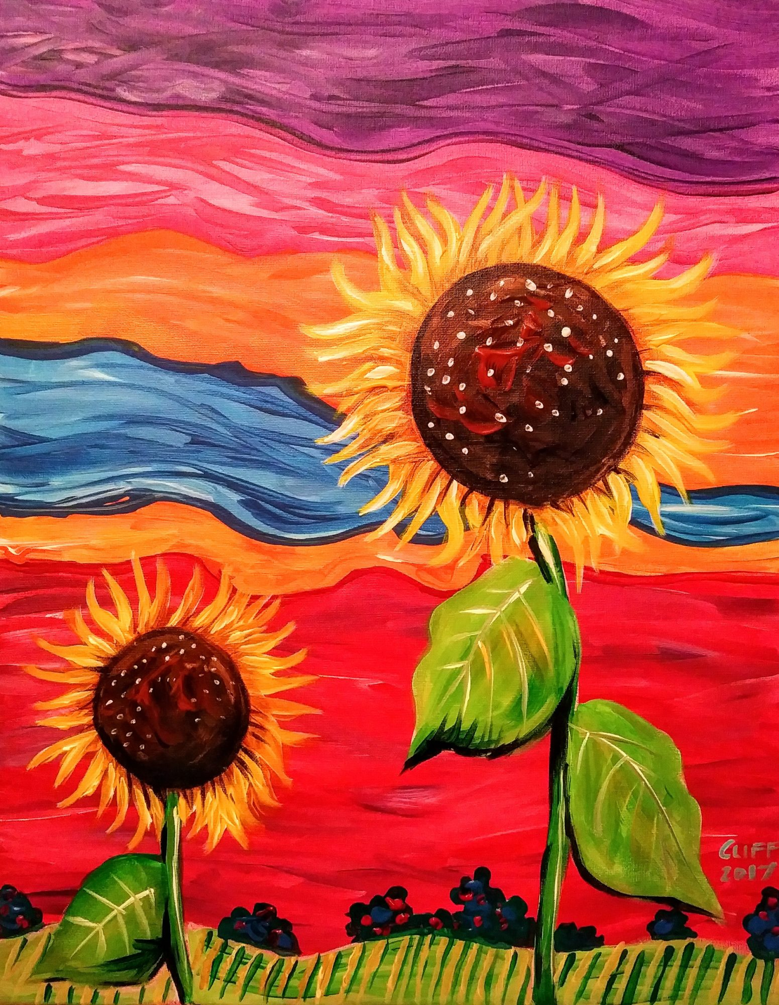 B45 Autumn Fields - Sip and Paint Parties in Bartlett, IL