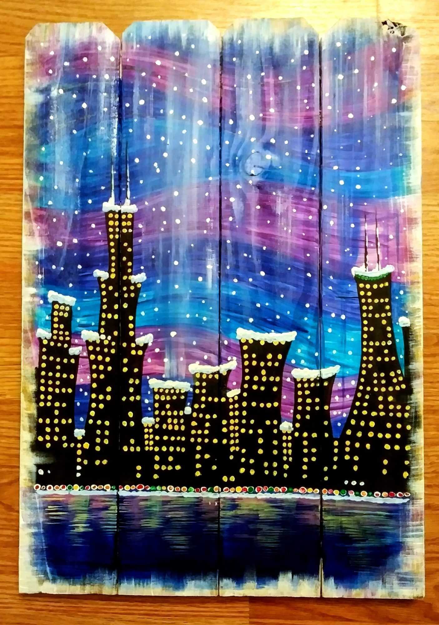 B47 Chicago Snowfall - Sip and Paint Parties in Bartlett, IL