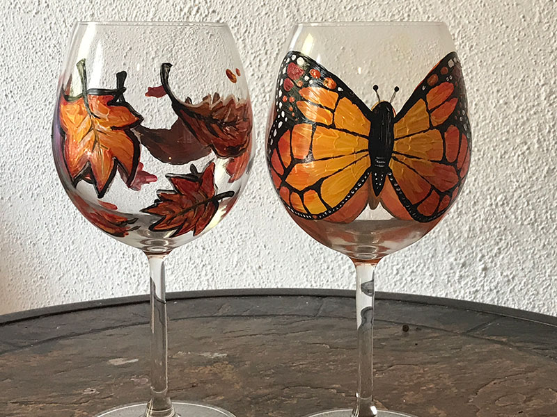 Fall Glasses - Sip and Paint Parties in Bartlett, IL
