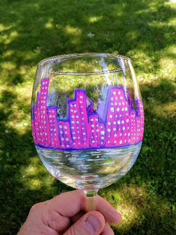 Wine Glass - Sip and Paint Parties in Bartlett, IL