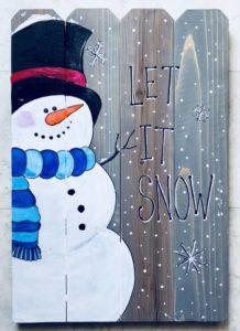 Let it Snow (Wood Pallet), Riverside Pizza & Pub, St. Charles