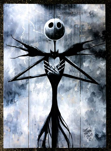 wood sign sip paint, wood pallet, wood sign DIY, sip & paint, local activities, BYOB, bars, Jack & sally, NBC, nightmare before christmas, jack skellington
