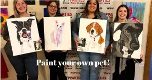 paint your pet, local activity, sip & paint, BYOB, bars, paint your own pet