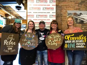 DIY wood sign workshop, sip & paint, local activities