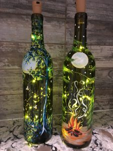 wine bottle painting, sip & pint, local activities, BYOB, bars