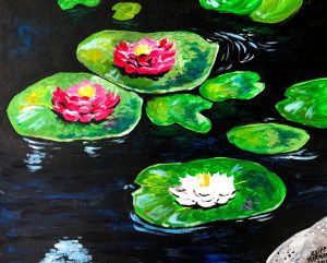 sip & paint, BYOB, bars, local activities, lily pad, paint party, family friendly