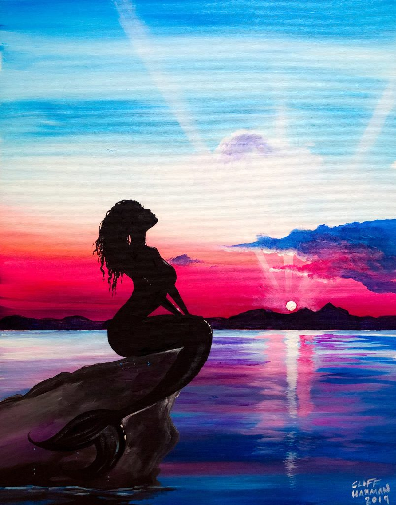 sip & paint, paint parties, local activities, BYOB, bars, little mermaid, paint & sip