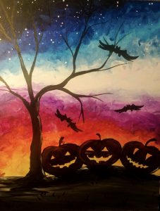 sip & paint, paint party, local activities, BYOB, bars, halloween,